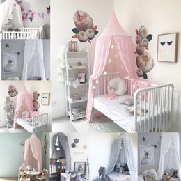 Wholesale princess kids bedding - Princess Baby Crib Netting Ger Type Mosquito Net Bed Kids Canopy Bedcover Curtain Bedding Dome Tent