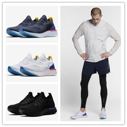 Wholesale designer soft shoes - vapormax designer shoes Epic React Womens Mens Running Shoes Instant Go Fly Breath Comfortable Sport Boost For Sale Men Women Athletic