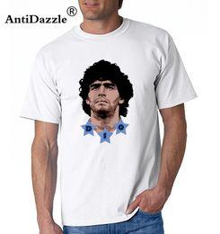 Wholesale Uomo Shirt Xl - Antidazzle Men Diego Armando MARADONA el dies Argentina pibe uomo bimbo autografo T-shirt Clothes T Shirt Men's o-neck tee