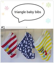 Karikatur-schürze setzt online-Baby Baumwolle Spucktuch Dreieck Baby Lätzchen Winter Schal Fütterung Acessorios Schürze Bandana Cartoon Baby Lätzchen Weihnachten Sachen 3 teile / satz