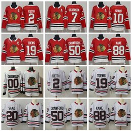 Wholesale Red Ads - Chicago Blackhawks Jerseys 2018 AD Hockey 88 Patrick Kane 19 Jonathan Toews 7 Brent Seabrook 2 Duncan Keith 10 Patrick Sharp 50 Crawford