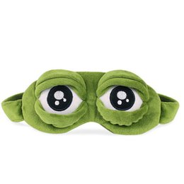Wholesale Frog Covers - Fashion Kawaii Travel Sleep Eye Mask 3D Sad Frog Padded Shade Cover Sleeping Closed Open Eye Funny Mask 0613089