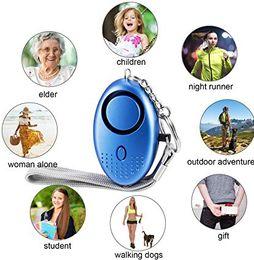 Canada Alarme personnelle pour les femmes 130DB Alarme de sécurité auto-défense d'urgence Keychain avec lumière LED pour les enfants et les aînés Hot Offre