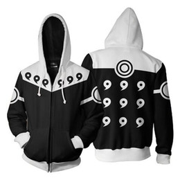 Argentina Sudadera con capucha con cremallera 3D Hombre Anime Naruto Impresión 3D Cosplay Sudadera Con capucha de manga larga Streetwear Chaqueta de cremallera Hipster 5XL cheap hipster jacket xl Suministro