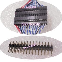 Câble d'extension d'écran lcd en Ligne-120cm LVDS 30P Rallonge Femelle à Femelle 30Pin Écran Câble Extension 30 Broches LCD câble d'écran Étendre Ligne Connecteur