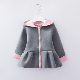 0f32e4e67e67e Nouveau-né Bébé Fille Lapin Oreille Hoodies Manteau Hiver Chaud Infantile  Veste Outwear Vêtements Pour 0-24 M