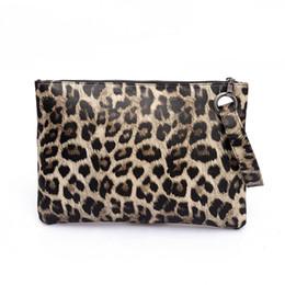 Argentina Mujeres Ladie Estampado de leopardo Embrague Bolso Fiesta Noche Sobre Bolsa de Embrague Bolso de mano Monedero cheap leopard print wallets women Suministro