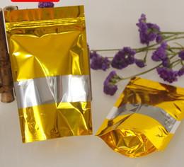 2019 fenêtres dorées Le sac d'emballage de biscuit scellé par feuille d'aluminium résistant à l'humidité d'or tiennent debout l'affichage de fenêtre le sac de grain de biscuit d'emballage emballant des sacs de casse-croûte d'or