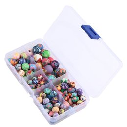 Wholesale diy loose ceramic beads - Colors Ball Round Fimo Polymer Clay Ceramic Spacer Loose Beads DIY Bohemia Bracelet Assorted For Jewelry Free DHL G190L