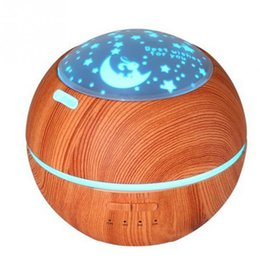 Wholesale Machine Live - Creative Light Shade Wood Grain Aroma Diffuser Ultrasound Night Light Humidifier Mini Aromatherapy Machine Home Atmosphere