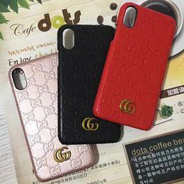Housses iphone6 en Ligne-Coque de téléphone avec motif en relief pour Apple iphone6 6S 7 7plus Coque arrière rigide pour iphone 8 8plus iphone X.