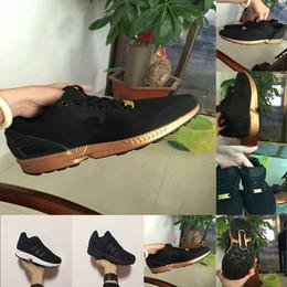 f749383696 nuovo oro nero zx flux flattie Tessuto di maglia traspirante uomo donna  sport scarpe casual scarpe da corsa taglia 36-45