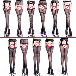 Lencería sexy, calcetines de encaje negro, eslinga de red transparente, libre de resbalones en la cintura y medias de red. desde fabricantes