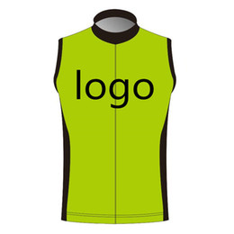 Wholesale cycle clothing wholesale - Custom Windproof Cycling Vest Sleeveless Jersey Can Choose Any size Any color Any logo Accept DIY Ropa ciclismo cycling clothing