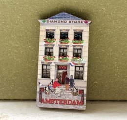 regalo olandese Sconti Olanda Olanda Amsterdam Diamond Store Turista Souvenir Magnete da frigo in legno Craft GIFT