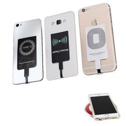 Receptor sem fio para celular on-line-Adaptador de receptor de carregador de telefone sem fio universal qi micro usb v8 tipo c carregador sem fio módulo receptor para iphone5 iphone6 7 7 plus