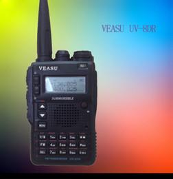 Wholesale Radios Hf - VEASU UV-8DR Tri Band 136-174 240-260 400-520mhz Walkie Talkie professional Two-Way Radio VX-8DR VX-6R Ham Radio HF Transceiver