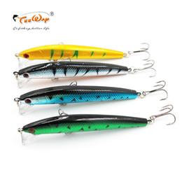 Iscas do proprietário on-line-Teeway melhor qualidade wobbler pesca 9g / 10 cm suspender minnow pike baixo iscas de pesca com 6 # proprietário gancho peche isca artificial