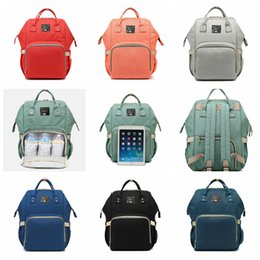 Wholesale diaper bag fabric - Diaper Bags Mommy Backpack Nappies Backpack 10 Colors Mother Maternity Backpacks Outdoor Desinger Nursing Travel Bag Organizer 16pcs OOA5104