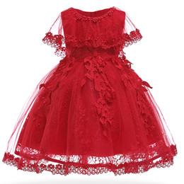 Festa di partito abiti online-Vestito da neonata Abiti da festa per bambini perlati Abito da ballo per battesimo neonato vintage Abiti da battesimo per abito da ragazza 1 anno compleanno