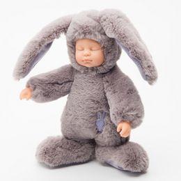 Wholesale Wholesale Reborn Baby Dolls - 25CM Baby Silicone Reborn Dolls Toys Stuffed Animals Rabbit Bear Education Soft Plush Toy Simulated Babies Sleeping Newborn Toys