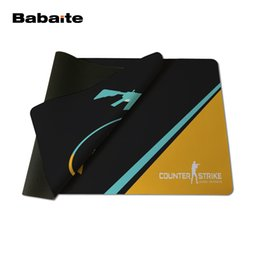Wholesale game counters - Babaite Best Game Custom Cs Go Counter Strike Yellow Light Blue Style Design Mouse Mat Silica gel Gaming Mice Pad