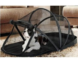 Wholesale Mosquito House - Free Shipping Portable Playpen for Dogs Pet Cat Dog House Outside Kennel Cage Foldable Pet Puppy Kennel Tents Cats Nest with Mosquito Net