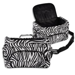 Wholesale case cutting tool - Professional Hair Tool Bag Zebra Design Hairdressing Salon Portable Tool Case for Hair Styling Tools pincel hair Clip Storage