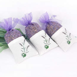 Wholesale Diy Organza Bags - Cotton Organza Lavender Sachet Bags DIY Dried Flower Sweet Bursa Packing Bag Hot Sale Purple 0 89xs C R