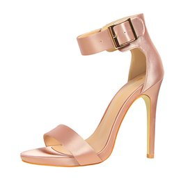 Wholesale Sexy Red Leather Dress Design - Brand New Design Women Wedding High Heels Women T Strap Sexy Thin Heel Sandals Party Shoes Nightclub Single Shoes