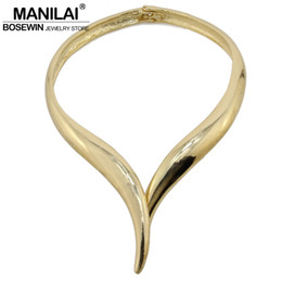 big gold pendant designs Promo Codes - hoker for women MANILAI Snake Design Bib Choker Necklace Women Big Torques Alloy Collar Statement Necklaces Maxi Chokers Female Brand Jew...
