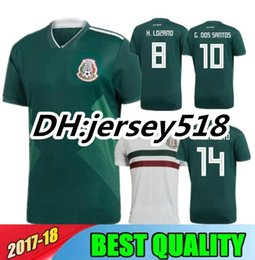 Wholesale Mexico Football Jersey - 2018 world cup Mexico Soccer Jersey Home Away 17 18 Green CHICHARITO Camisetas de futbol Hernandez G DOS SANTOS football shirts
