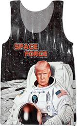 2019 coole singles Space Force Trump Männer ärmellose Hemden Sommer coole Unterhemden Mann Bodybuilding Fitness Kleidung Turnhallen Unterhemd günstig coole singles