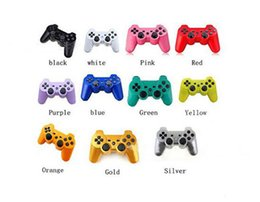 Wholesale Android Video Games - PS3 Wireless Bluetooth Game Controller for PS3 Game Multicolor Controller Joystick For Android Video Games Without Packaging Free Ship