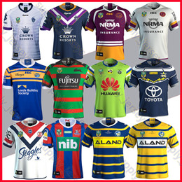 Wholesale Black Cowboy Shirt - 2018 nrl rugby jersey Parramatta Eels Cowboys Brisbane Broncos Newcastle Knights south Sydney Roosters Rabbitohs Leeds Rhinos jerseys shirt