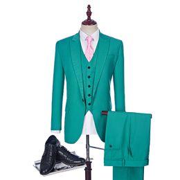 Wholesale White Linen Suit Jacket - New Arrival Hunter 2 Suit Style For Man Clothes Peaked Lapel Groom Tuxedos And Groomsman Suit Man (jacket+Vest+pants)