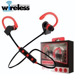 Wholesale Bluetooth Earphones For Cellphones - bt2 BT-2 Tour Earphone Bluetooth Sport Earhook Earbuds Stereo Over-Ear Wireless Neckband Headset Headphone with Mic for Universal Cellphone