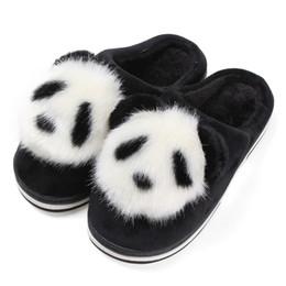 Зима Крытый Пушистый Панда Тапочки Женщины Плоский Дом Плюшевые Слайд Рождественские Тапочки Животных Теплый Нескользящей Домашней Обуви Шарп Донна cheap panda slippers от Поставщики тапочки для панды