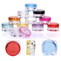 Wholesale Greasing Silicone - Plastic Wax Containers Boxes Jars Case 5g Colors Holder Dab Dabber Tools For Dry Wax Thick Oil Grease Paste Mastic No-Smell Silicone