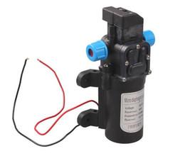 Membranpumpendruck online-DC 12 V 60 Watt Micro Elektrische Membran Wasserpumpe Automatikschalter 5L / min Hochdruck Auto Waschen Spray Wasserpumpe 5L / min