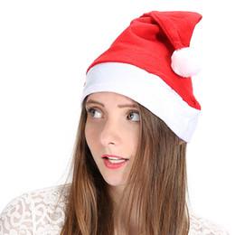 adulto do traje de santa Desconto Clássico Natal Santa Chapéu Adulto Chapéus Vermelhos Para Decoração de NatalSanta Claus Costume Christmas Party Supplies LE100