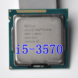 Wholesale Intel Core I5 Desktop - Original I5 3570 Processor Quad-Core 3.4Ghz L3=6M 77W Socket LGA 1155 Desktop CPU working 100% + Free Shipping