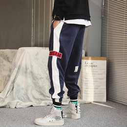 4a6a750791 SUNJUNE Corduroy track Tapered pants streetwear 2018 invierno nueva moda  kanye west joggers pantalones para hombre pantalones hip hop tapered pants  for men ...