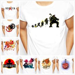 Wholesale T Shirts For Men Wholesale - 2017 New The dragon Ball super Men Cloths Son Goku Saiyan vegeta Printed dragonball Z anime T Shirt Fashion White Tee For Male