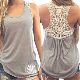 Wholesale Shaping Vest Women - Women Crochet Top Floral Lace Stitching The I-shaped Plus Size Tank top Straped Vest Female Women's lace female T-shirt New