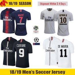 18 19 MBAPPE Soccer Jerseys 2018 2019 CAVANI Jersey WEAH VERRATTI DI MARIA  Football Shirt T SILVA Soccer Shirt 418afe1b0