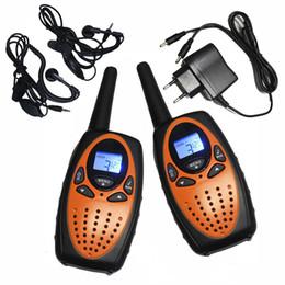 Wholesale Two Way Radio Charger - 2PCS TS628 1w long range Portable PMR446 Handheld Walkie Talkies 2 Way mobile Radios Transceiver orange w  charger earphones