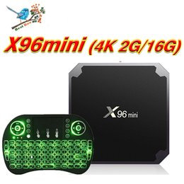 Wholesale Ram Board - X96 mini Android TV Box With Air Mouse Key Board 4K Media Player S905W Quad Core 2Gb Ram 16Gb Rom TV Boxes