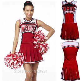 schule sexy s Rabatt 2018 neue High School Cheer Musical Glee Baseball Cheerleader Kostüme Outfit Kostüm S-XL sexy
