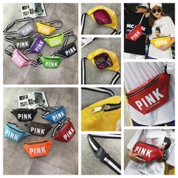Wholesale badminton kit - 14 Colors PINK Letter Waistpacks Purses Pocket Bags Cosmetic Bag Waist Bag Travel Beach Running Case Ladies Storage Stuff Sacks Toiletry Kit